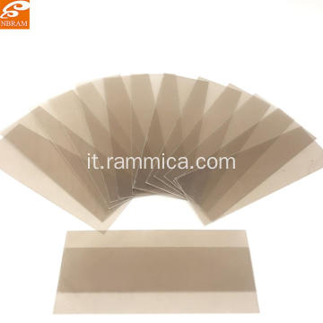 Vetro calibro mica naturale 129x44x0.6mm